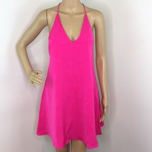 Pink Halter Racerback Dress